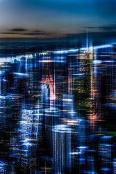 Bild mit Kunst, Architektur, Abstrakte Kunst, art, New York, USA, Skyline, wolkenkratzer, Hochhäuser, NYC