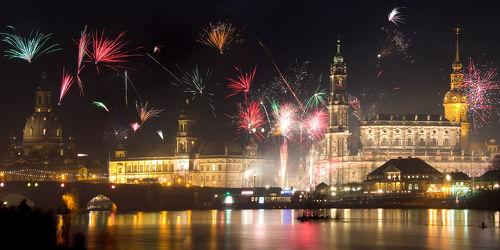 Bild mit Gebäude, Städte, Häuser, Brücken, Stadt, Dresden, Brücke, City, Skyline, Fluss, Elbe, Barock, silvester