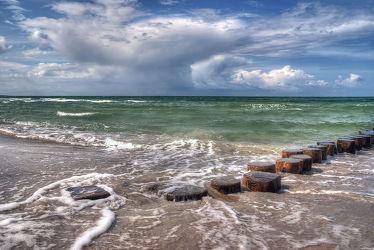 Bild mit Wasser, Gewässer, Meere, Wellen, Sonnenuntergang, Sonnenaufgang, Strand, Ostsee, Meer, Am Meer, Welle