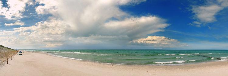 Bild mit Wasser, Gewässer, Meere, Wellen, Sand, Urlaub, Sandstrand, Panorama, Ostsee, Meer