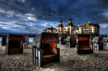 Bild mit Strände, Urlaub, Strand, Strandkörbe, Ostsee, Strandkorb, Seebrücke, seebrücken, ostseeinsel, sellin