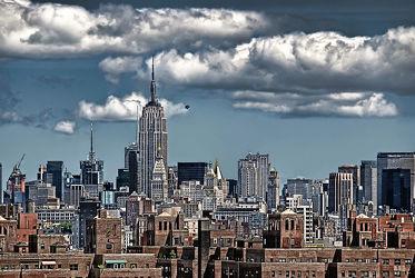 Bild mit Autos, Architektur, Straßen, Stadt, New York, Staedte und Architektur, USA, hochhaus, wolkenkratzer, Straße, Hochhäuser, Manhattan, Brooklyn Bridge, Yellow cab, taxi, Taxis, New York City, NYC, Gelbe Taxis, yellow cabs
