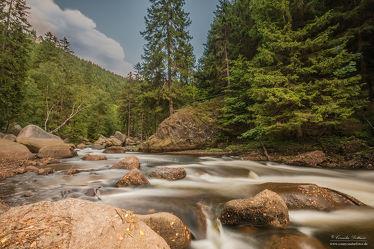 Bild mit Natur, Landschaften, Wälder, Stein, Wald, Steine, Fluss