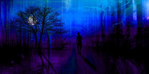 Bild mit Kunst,Abstrakt,yammay surreal,Surreal,Schatten,Silhouette,natur kunst