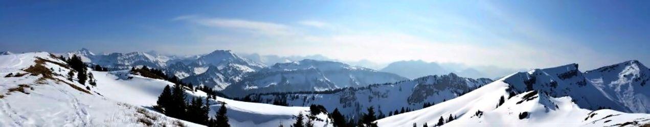 Bild mit Natur, Landschaften, Berge, Bäume, Winter, Schnee, Wälder, Alpen, Wald, Baum, Panorama, Landschaft, Weihnachten, winterlandschaft, Winterlandschaften, Winterbilder, berg, Kälte, Frost, Gebirge, Winterbild, winterwunder