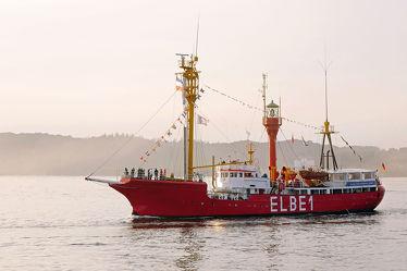 Bild mit Sonnenuntergang,1,Feuerschiff,Elbe,Abendstimmung,Rückkehr,Feuerschiffe