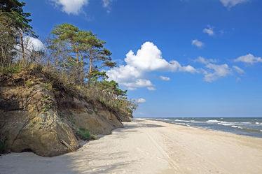 Bild mit Natur, Landschaften, Himmel, Wolken, Strände, Sand, Urlaub, Sommer, Sandstrand, Ostsee, Meer, Küste, Wellnes, Ostseeküste