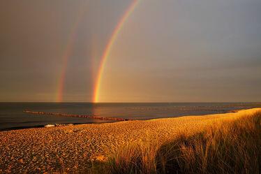 Bild mit Himmel, Wolken, Strände, Urlaub, Ostsee, Meer, Regenbögen, Küste, Ausspannen, Geniessen