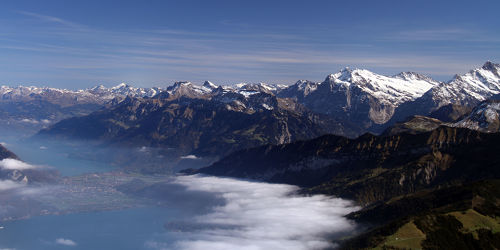Bild mit Natur, Berge, Schnee, Gletscher, Seen, Nebel, Alm, Alpen, Panorama, Panorama, Bergsee, See, berg, Gebirge