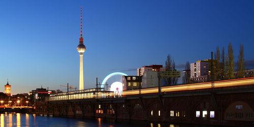 Bild mit Landschaften, Sonnenuntergang, Architektur, Städte, Berlin, Landschaft, Stadt, Skyline, Hauptstadt