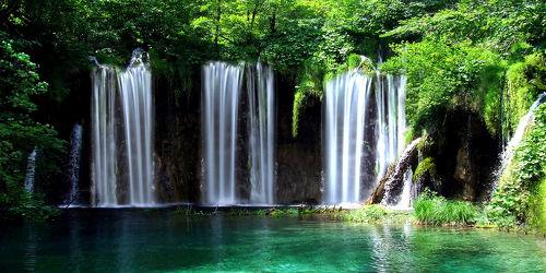 Bild mit Wasser, Landschaften, Bäume, Gewässer, Seen, Flüsse, Wasserfälle, Baum, Landschaft, See, Bach, Wasserfall, Fluss, Dschungel
