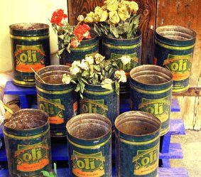 Bild mit Küchenbild,Retro,Nostalgie,mediteran,mediterran,wandschmuck,olivenölkanister,nostalgisch,provence,olivenöl,olio,öl