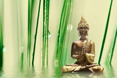 Bild mit Stein, Steine, Meditation, Ruhe, Entspannung, Tropfen, Buddha, Wellness, Erholung, buddhistisch, heilung