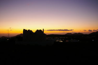 Bild mit Sonnenuntergang