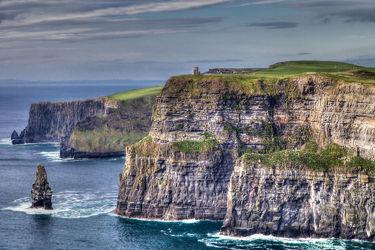 Bild mit Wasser, Gewässer, Wellen, Meer, Küste, Irland, Klippen, Westküste