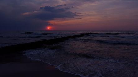 Bild mit Himmel, Sonnenuntergang, Sonnenaufgang, Ostsee, Meer, Sunset