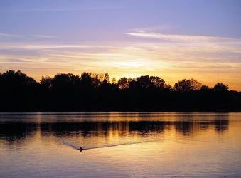 Bild mit Wasser, Landschaften, Gewässer, Seen, Sonnenuntergang, Sonnenaufgang, Landschaft, See, Teich
