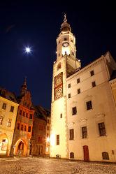 Görlitzer Rathaus bei Nacht
