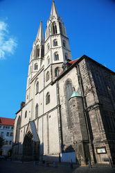 Bild mit Städte,Kirchen,Stadt,Kirche,Görlitz,Peterskirche,Kirchenturm,Kirchentürme,City,Filmstadt,Filmstadt Görlitz,Görliwood,Gottestdienst,Görlitzer Peterskirche