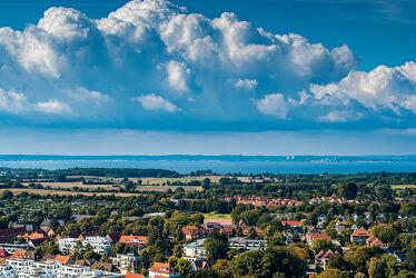 Bild mit Wasser, Landschaften, Jahreszeiten, Sommer, Häuser, Ostsee, Lübecker Bucht, Lübeck, Travemünde, Ortschaften
