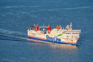 Bild mit Wasser, Wellen, Transport, Sonne, Ostsee, Schiff, Meer, Licht, Perspektive, Container