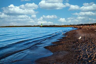 Bild mit Wasser, Landschaften, Brandung, Wellen, Strand, Ostsee, Licht, Spiegelungen, Ufer, Schatten
