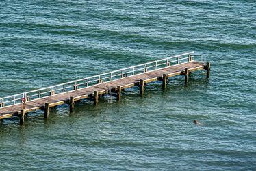 Bild mit Wasser, Landschaften, Wellen, Ostsee, Meer, Steg, Ruhe, Entspannung, Erholung, Frieden