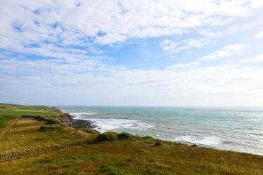 Bild mit Natur, Wellen, Frankreich, Meer, Küste, Gräser/Pflanzen, Felsenküste