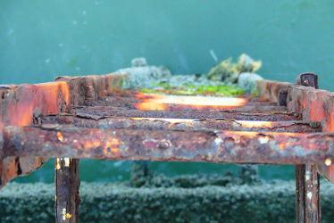 Bild mit Wasser, Meer, Rost, Unschärfe, Schärfe, Leiter