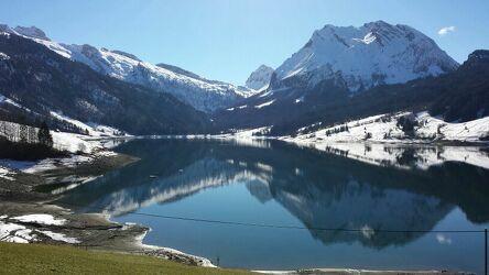 Bild mit Natur, Berge, Schnee, See