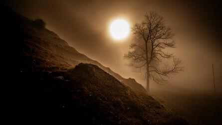Bild mit Nebel, Landschaftspanorama, Morgenstimmung, Nebelauflösung, Nebelschwaden, morgennebel