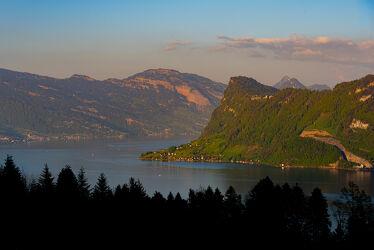 Bild mit Natur, Landschaften, Berge und Hügel, Berge, Sonnenuntergang, Seeblick, See, landscape, Erholen