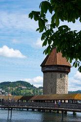 Bild mit Landscape & City, City, Schweiz, Luzern, Wasserturm