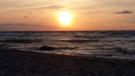 Bild mit Küsten und Ufer, Sonnenuntergang, Sonne und Meer, Sonnenuntergänge, Nordseeküste