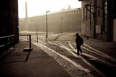 Bild mit Straßen und Wege, Stadt, Görlitz, Morgenlicht, Schienen, Alte Industrie, industriekultur