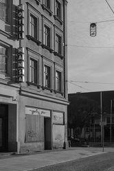 Bild mit Städte,Straßen,Stadt,Stadt Görlitz,Görlitz,Görlitz und Umgebung,schwarz weiß,SW,Berliner Straße