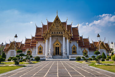 Bild mit Kunst, Architektur, Tempelanlagen, Tempel, Religion, Thailand, Bangkok