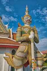 Bild mit Kunstwerk, südostasien, Tempelanlagen, Religion, Kultur, Palast, Wächter, Thailand, Königspalast, Riese