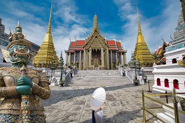 Bild mit Kunst, Kunstfotografie, asien, südostasien, Tempelanlagen, Religion, Thailand, Bangkok, Königspalast