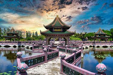 Bild mit Kunst, südostasien, Tempelanlagen, Religion, Thailand, Bangkok