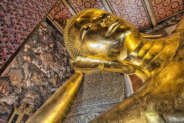 Bild mit Kunst, Kunstwerk, Kunstfotografie, Buddha, Tempelanlagen, Religion, BUDDHASTATUE, Thailand, Bangkok, wat pho