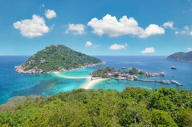 Bild mit Strände, Palmen, Inseln, Meerblick, asien, südostasien, Thailand, Koh Tao