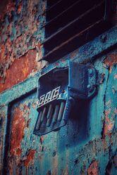 Bild mit Rot, Blau, Braun, Rost, Museum, lok, Alte Industrie, henrichshütte, lwl, stecker