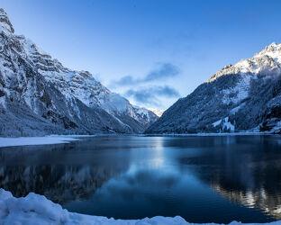 Bild mit Winter, Seen, Landschaft, See, Winterlandschaften, Klöntalersee