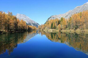 Bild mit Berge, See, Spiegelung, Schweiz, Albulapass