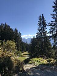 Bild mit Berge, Bäume, Wanderweg, Bergwelten, Wandern