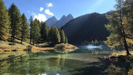 Bild mit Berge, Bergsee, See, Bergwelten, stausee