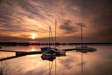 Bild mit Natur, Wolken, Sonnenuntergang, Sonnenaufgang, Sonne, Segelboot, Landschaft, Nature, See, mandichosee