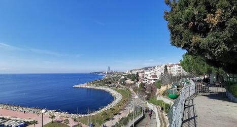 Bild mit Küsten und Ufer, Strand, Meer, Hafenstadt, Park, Türkei, Uferzone