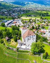 Bild mit Landschaften, Schlösser und Burgen, Panorama, Luftaufnahme
